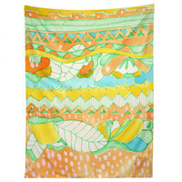 CayenaBlanca Light Tribal Tapestry