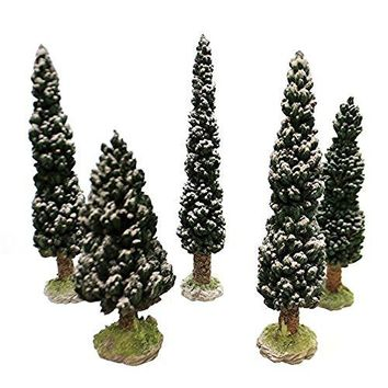 Village Snowy Evergreens Set of 5, Large 52614