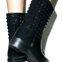 Nova Studded Rain Boots | Dolls Kill