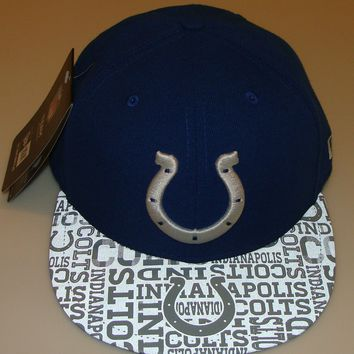 New Era Hat Cap NFL Football Indianapolis Colts 7 5/8 59fifty 2014 Draft Fitted