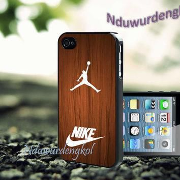 Air jordan on wood For iPhone 5/5S/5C/4/4S, Samsung Galaxy S3/S4, iPod Touch 4/5, htc