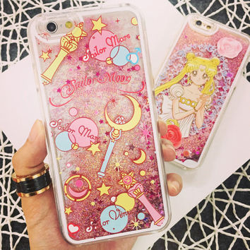 Sailor Moon Liquid Glitter Kawaii Iphone 5s Case