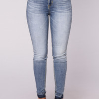Lauryn Released Hem Skinny Jeans - Medium