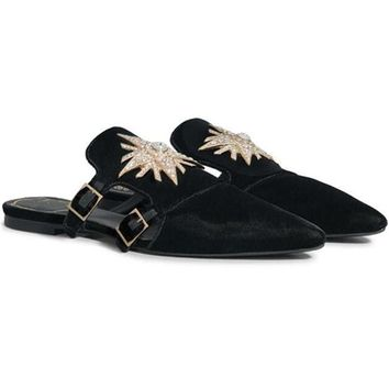 Velvet N.STAR Mules - Black