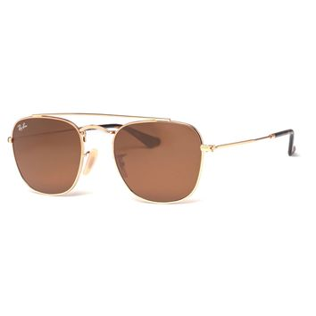 Ray Ban RB3557 001/33 Gold Classic Brown B-15 Caravan Navigator Sunglasses