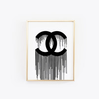 Coco Chanel Decor, Fashion Wall Art, Fashion Poster, Printable Wall Art, Fashion Print, Coco Chanel Poster, Chanel Inspired,Coco Chanel Art
