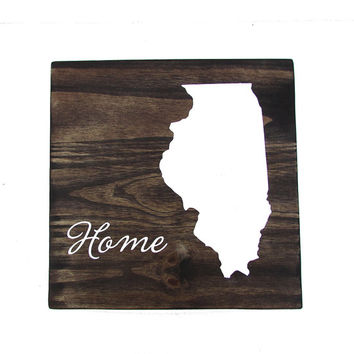 Custom Hand Painted Sign, All States Available, Home State Wall Decor, Gallery Wall Decor, Rustic State Sign, Home State Pride