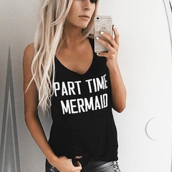Part Time Mermaid Graphic Top - FINAL SALE