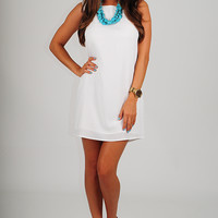 In The Zone Dress: White