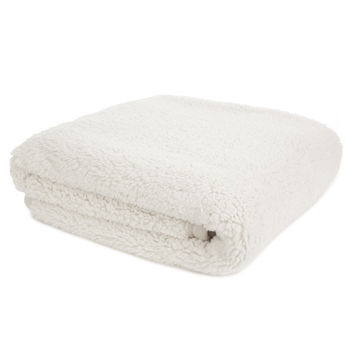 Kintyre Cream Fleece Bedspread