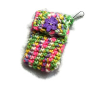 HALF PRICE SALE - Candy Rainbow Keychain Clip Pouch - Money Holder , Pill Keeper - Item 1030