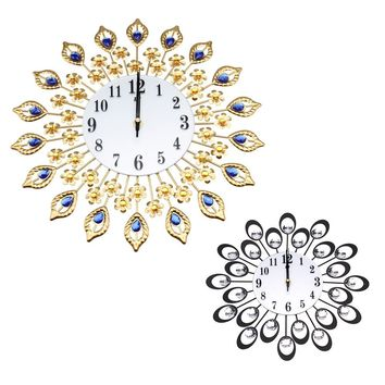 Ishowtienda Vintage Style Peacock Antique Wall Clock for Home.