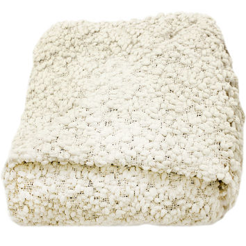 Betsy Cream Boucle Throw