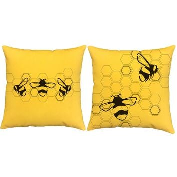 The Bees Knees Honeycomb Throw Pillows