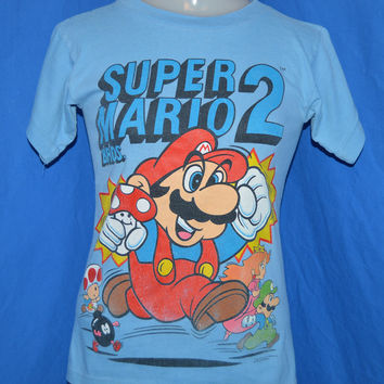 80s Super Mario Brothers 2 t-shirt Youth Medium