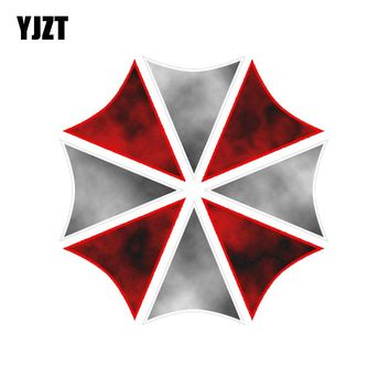YJZT 12.7CM*12.7CM Amusing RESIDENT EVIL UMBRELLA CORPORATION Reflective The Tail Of The Car Decal Sticker C1-7538
