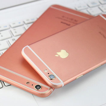 Rose Gold Pink Decal Wrap Skin Set Apple iPhone 6s 6 / iPhone 6s 6 Plus