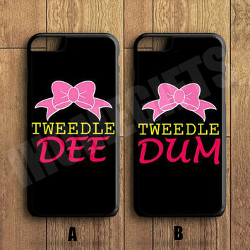 Tweedle DEE Tweedle DUM Couple Case,Custom Case,iPhone 6+/6/5/5S/5C/4S/4