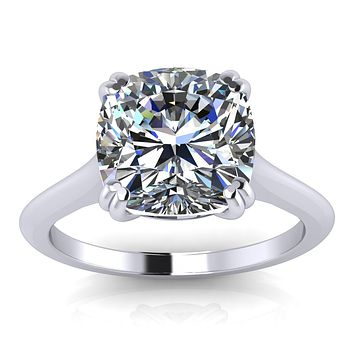 Cushion Cut Moissanite Engagement Ring - Kumi 51fdd09fd