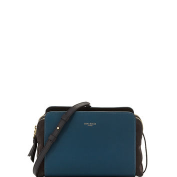 Marche Duo Shoulder Bag, Blue/Black - Nina Ricci