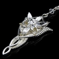Lord of the Rings Arwen Evenstar Pendant Necklace solid 925 Sterling Silver | museumreplicajewelry - Jewelry on ArtFire