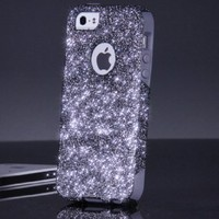 OtterBox Commuter Series Case for iPhone 5 5S - Custom Glitter Case for iPhone 5 5S - Smoke/Grey