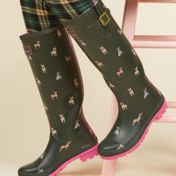 Splash the Time Rain Boot in Frenchies | Mod Retro Vintage Boots | ModCloth.com