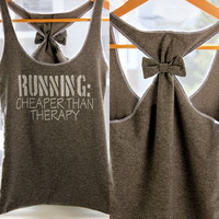 Running Workout Clothes RUNNING Cheaper than Therapy - Large