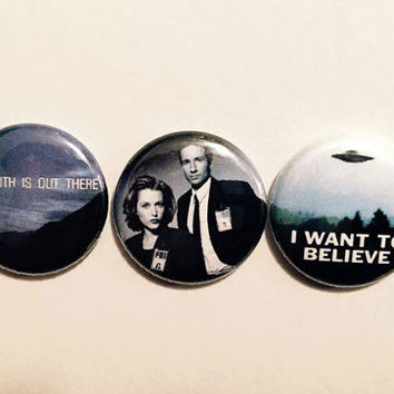 X-Files Button Set 3-Pack