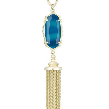 Everly Necklace in Teal Agate - Kendra Scott Jewelry