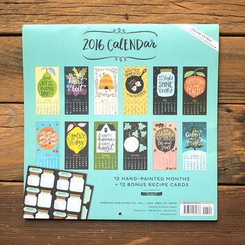 2016 Homegrown Goodness Wall Calendar