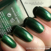Unicorn Pee NOTD: Calvin Klein ? 235 Emerald Green | The Swatchaholic . a blog about nail polish and makeup