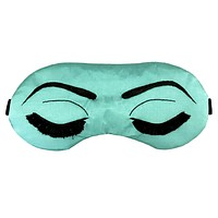 NATURAL SILK BREAKFAST AT TIFFANY'S EYE MASK IN JADE