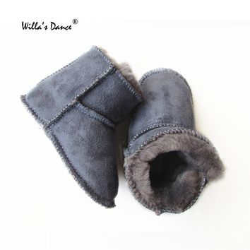 Baby Boys Boots Girls Winter Shoes 2017 Soft Soles Fur Boots Infants Shoes with Willa's Dance Brand Toddler Shoes