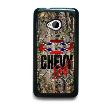 CAMO BROWNING REBEL CHEVY GIRL  HTC One M7 Case Cover