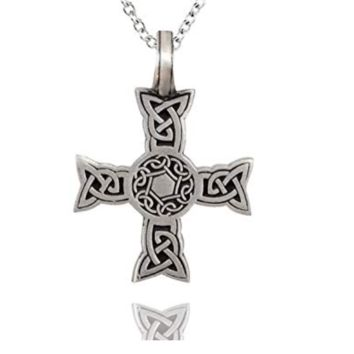 New Celtic cross silver pewter pendant necklace shaped pendant