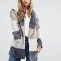 Lovers + Friends Patchwork Coat at asos.com