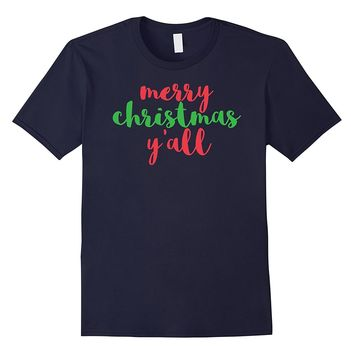 Cute Christmas Shirt for Women Merry Christmas Y'all Tee