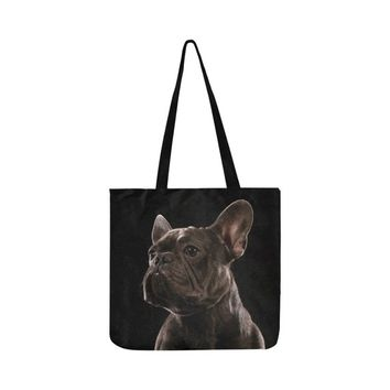 Shopping bag bag tote bag with French bulldog Frenchie