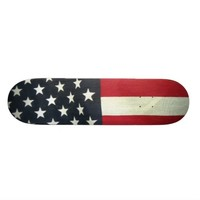 Patriotic Flag Skate Board Deck