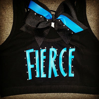 Fierce Sports Bra with Mathching TikTok Bow (SWAROVSKI CRYSTALS)