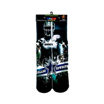Dallas Cowboys Team Logo Design Sock