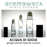 ACQUA DI GIOIA by Giorgio Armani for Women type - 100% Pure Perfume Fragrance Body Oil Roll On - Uncut - No Alcohol - You Choose Size
