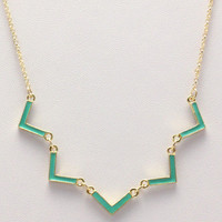 MINT ZIGZAG NECKLACE
