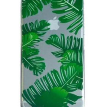 Clear Palm Leaf Print Iphone 6 Case