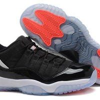 Hot Nike Air Jordan 11 Low Women Shoes Black White