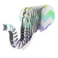 "Catherine McDonald ""Water Color"" Chevron Eyan Elephant Bust Jr."