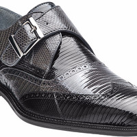 Pasta Genuine Lizard Monkstrap by Belvedere