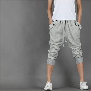 Pantalon Homme Male Casual Pocket Trousers Big Drop Crotch Sweatpants Dance Hip Hop Men Jogger Harem Pants Plus Size HO853394