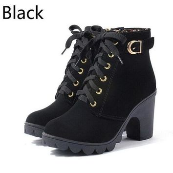 Lace Up Ankle Boots up to Size 9 (25cm EU 40)